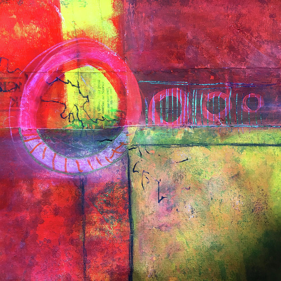 Painting Painting - Layers No. 3 by Nancy Merkle