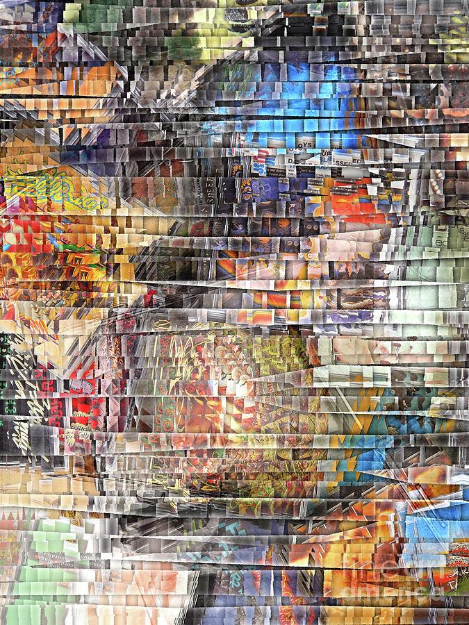 Compact Disks Digital Art - Layers of Digital Music by Phil Perkins