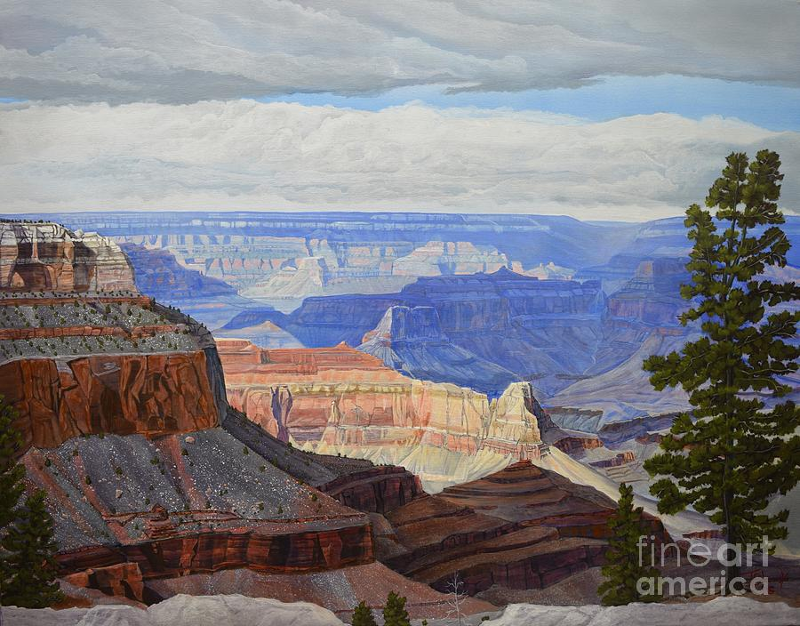 D Cloud Formation Above Grand Canyon Art Print Home Decor Wall Art Poster