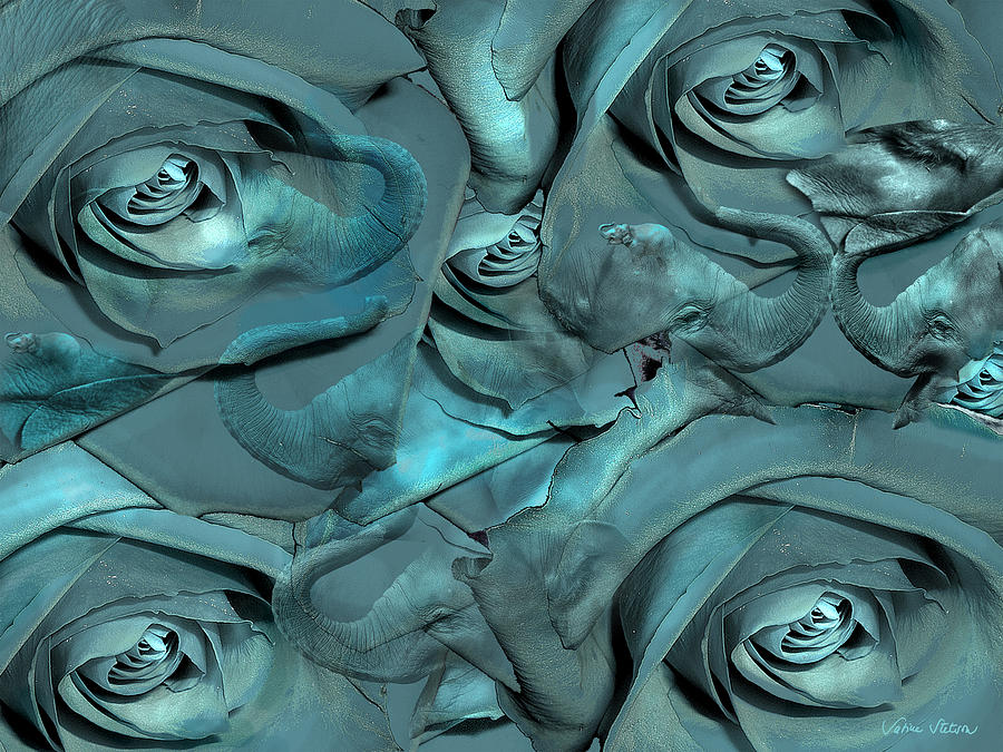 Roses Digital Art - Layers by Sabine Stetson