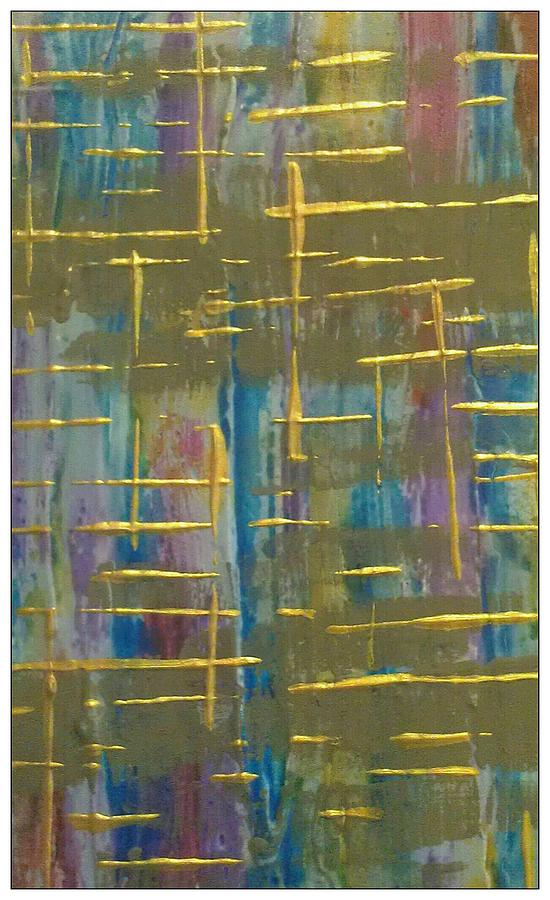 Abstract Painting - Layers by Sonya Wilson