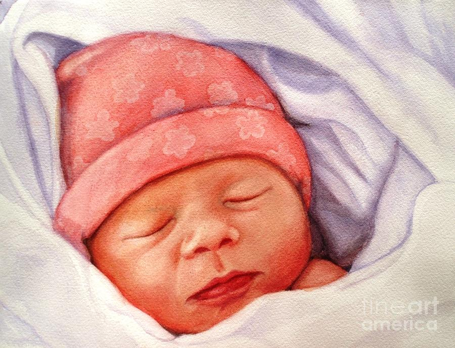 Baby Painting - Layla by Marilyn Jacobson