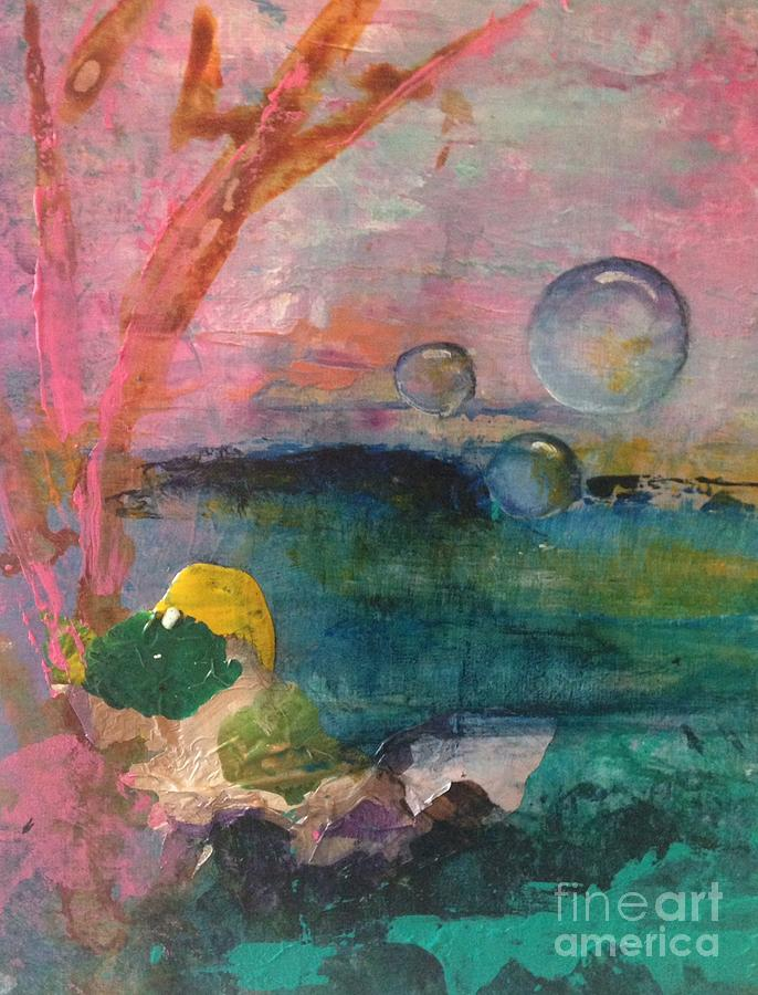 Whimsical Painting - Lazy Afternoon Dreaming by Terri Davis