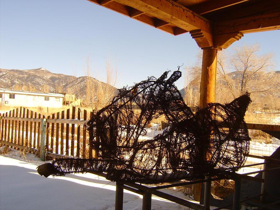 Landscape Sculpture - Lazy Colt by Floyd Archuleta
