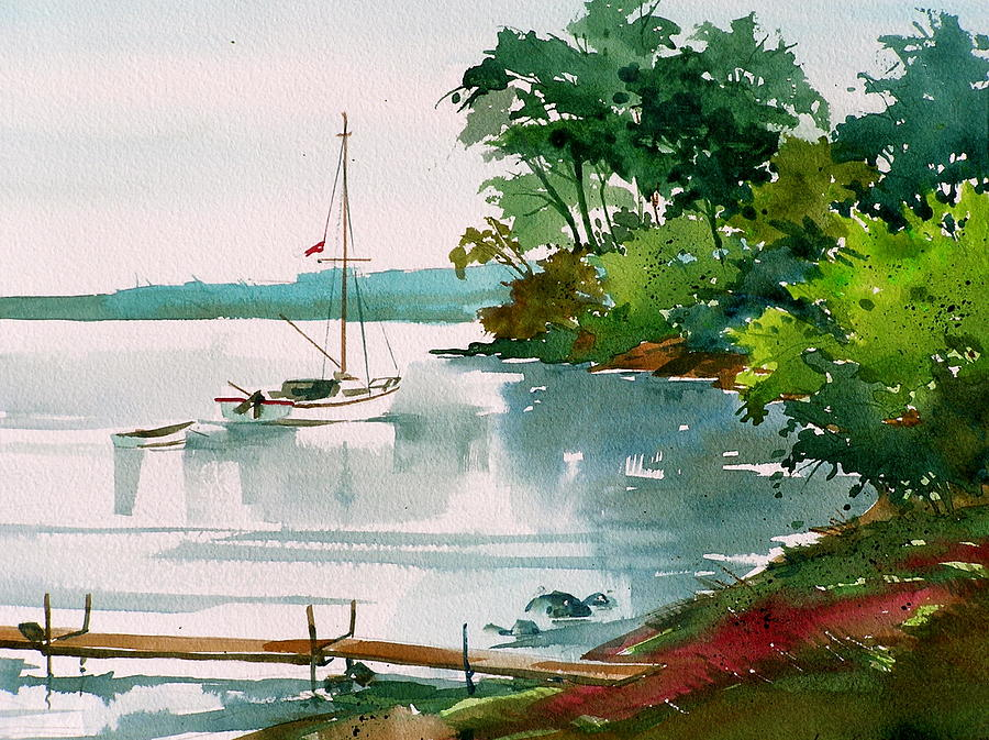 Lazy Cove Painting by Art Scholz