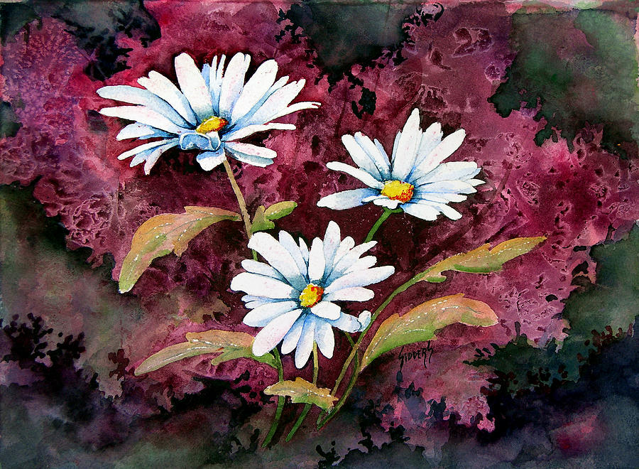 Flowers Painting - Lazy Daisies by Sam Sidders