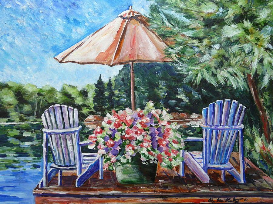 Muskoka Painting - Lazy Days by Heather Kertzer