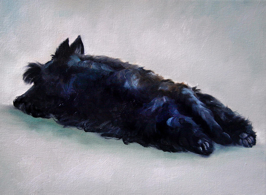Scottie Painting - Lazy Days by Mary Sparrow