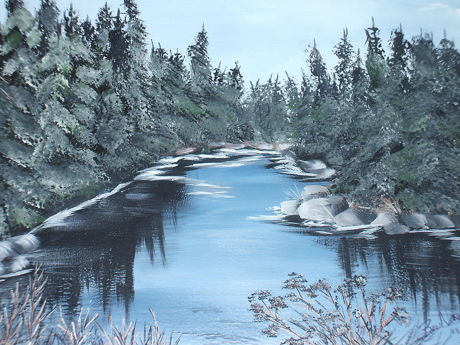 Lazy River Painting by Bev  Neely