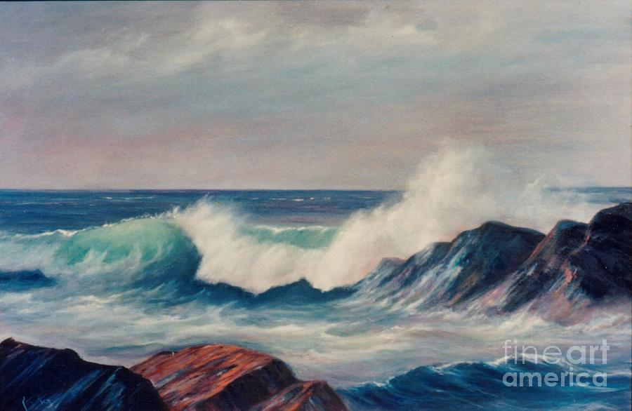 Sea Painting - Lazy Wave by Rita Palm