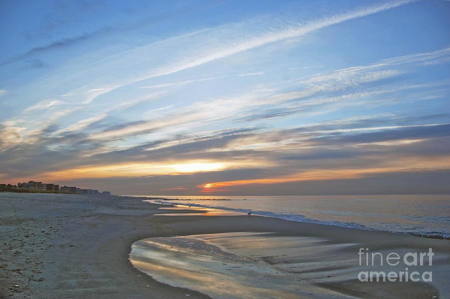 Beach Photograph - Lb Sunrise by Scott Evers