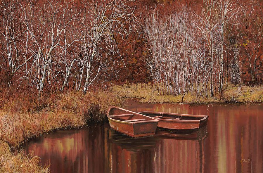 Le Barche Allo Stagno Painting