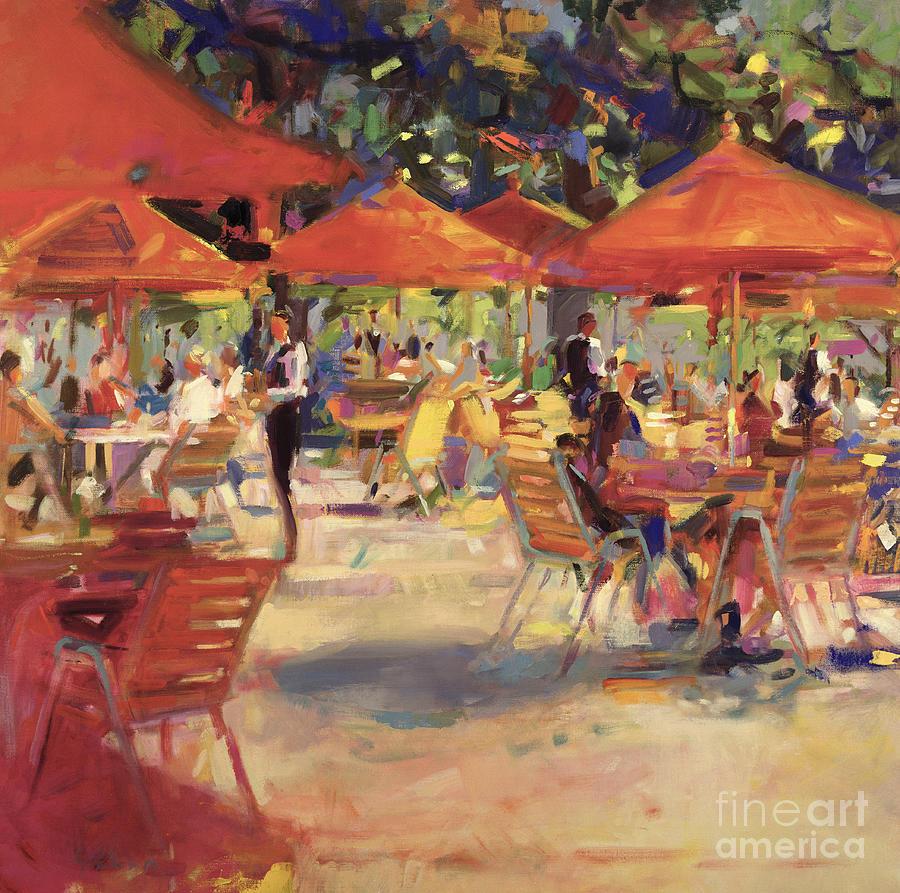 Fine Dining Painting - Le Cafe Du Jardin  by Peter Graham
