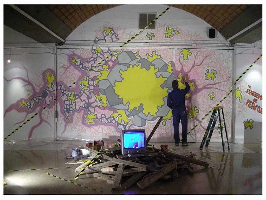 Le Chantier De Peinture Mixed Media by Jorg Bogumil