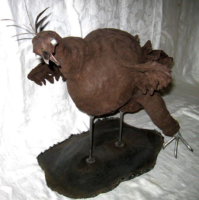 Flying Bird Sculpture - Le Cormoran by Andre Ferron