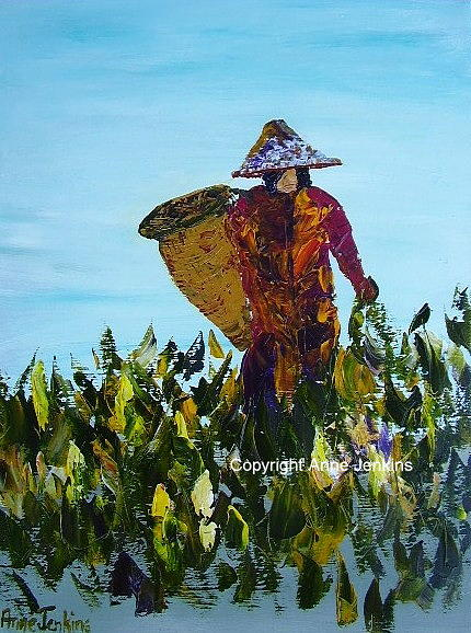 Women Painting - Le Courage Des Femmes  Java by Anne Jenkins