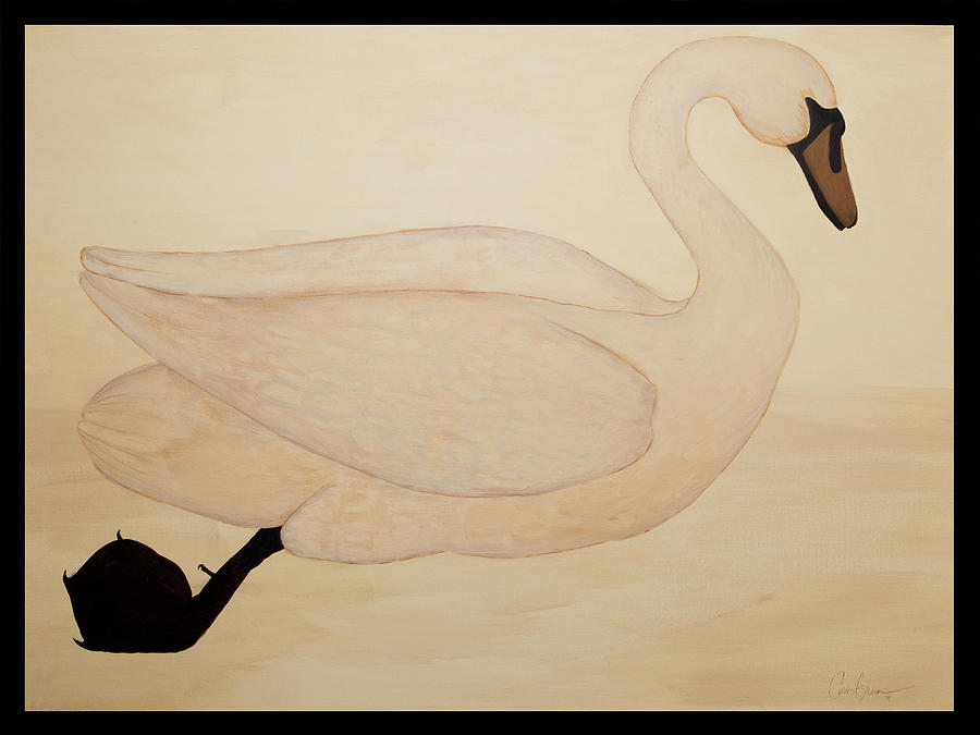 The Swan Painting - Le Cygne by Carrie Jackson