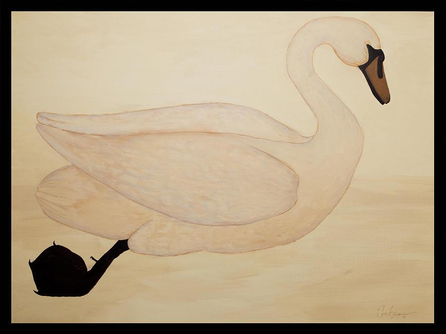 The Swan Painting - Le Cygne by Carrie Jackson Glenn