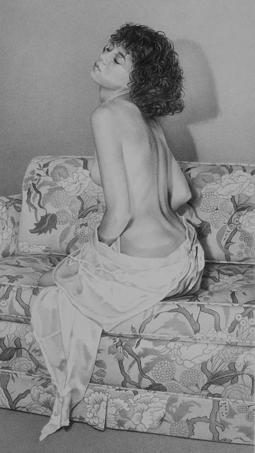 Figure Drawing - Le Divan  by Marcel Franquelin