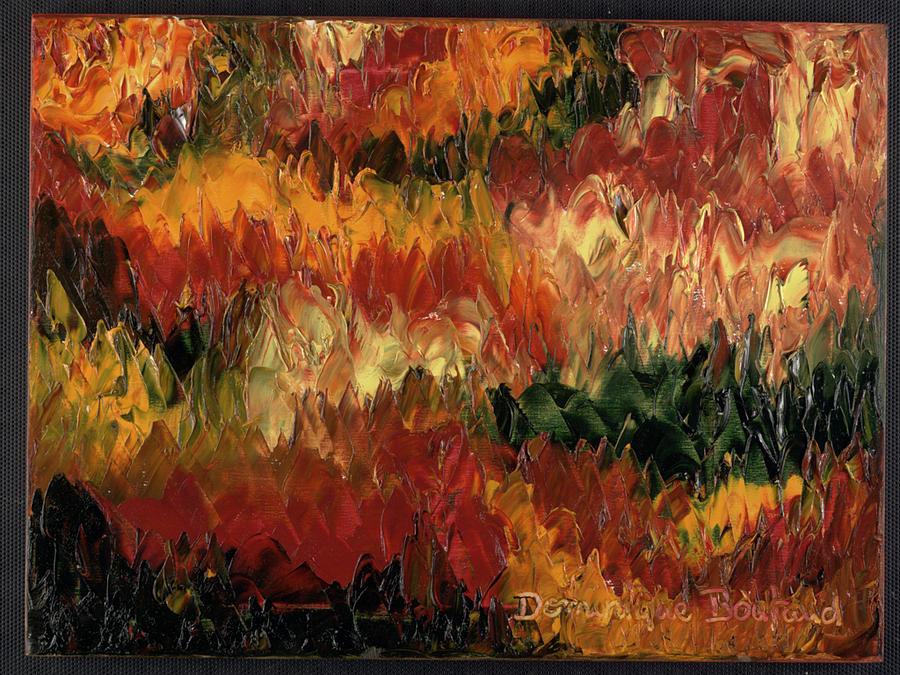 Abstract Painting - Le Feu Et La Vie 1 by Dominique Boutaud