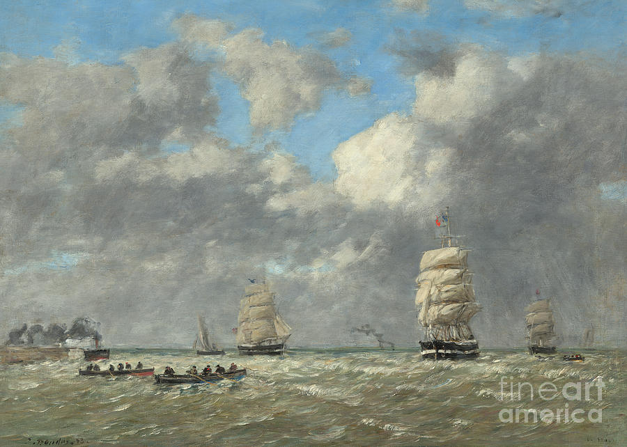 Le Havre Painting - Le Havre, 1883 by Eugene Louis Boudin
