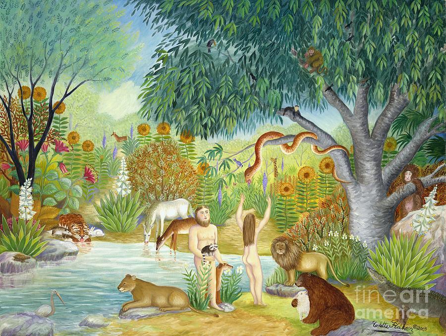 Le jardin du paradis painting by colette raker for Art du jardin zbinden sa