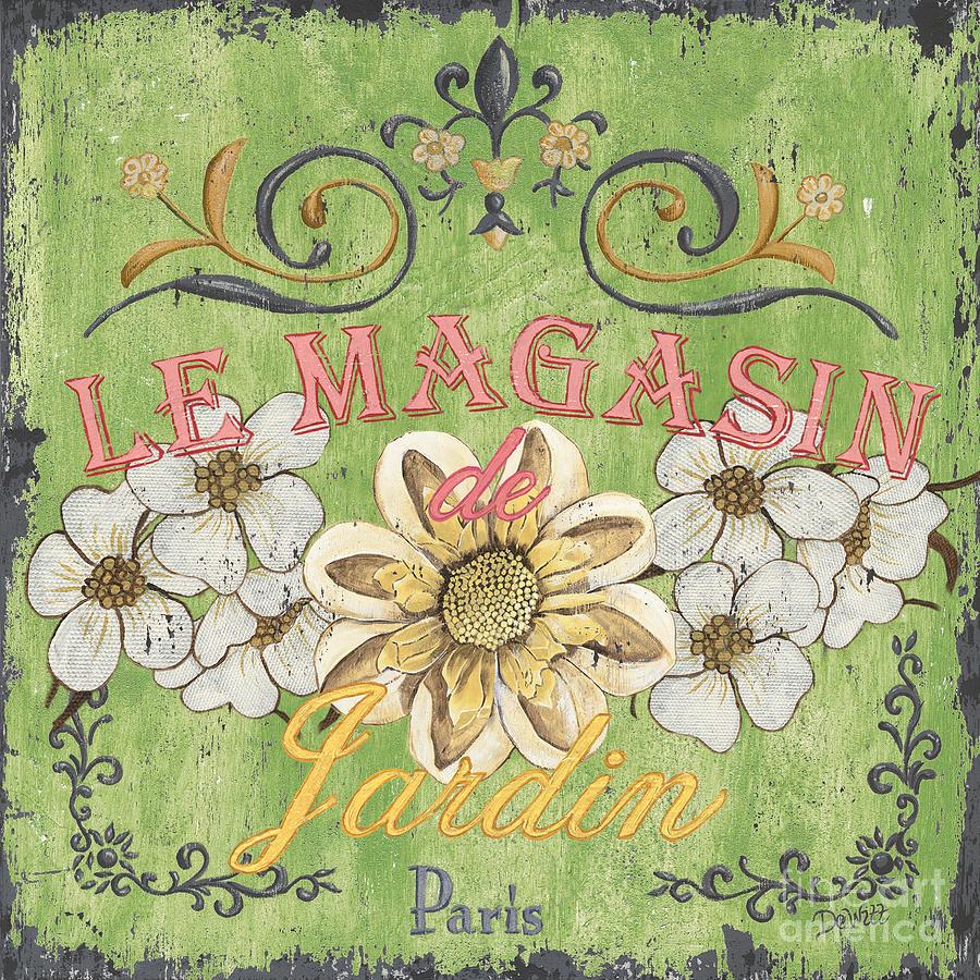 Floral Painting - Le Magasin De Jardin by Debbie DeWitt