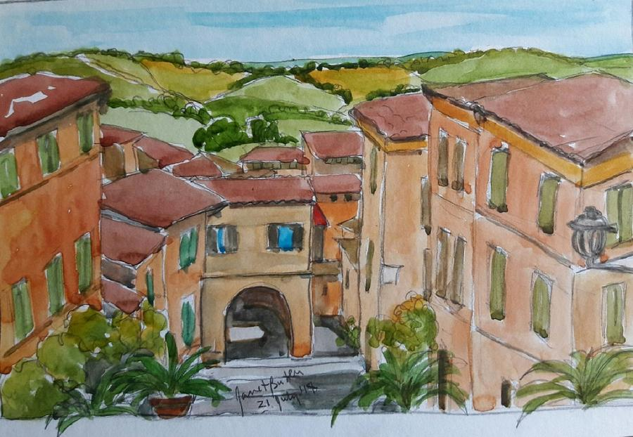 Italy Painting - Le Marche, Italy by Janet Butler