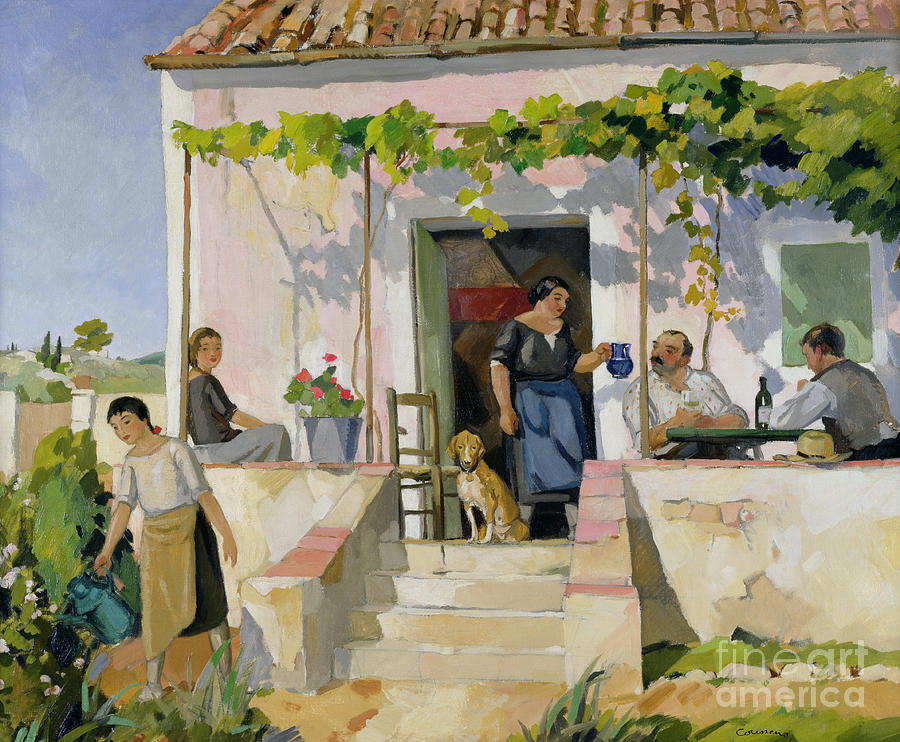 Mazet Painting - Le Mazet by Armand Coussens