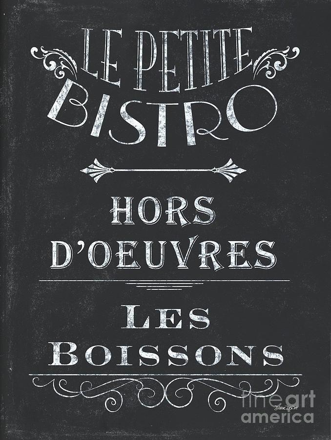 Cafe Painting - Le Petite Bistro 1 by Debbie DeWitt