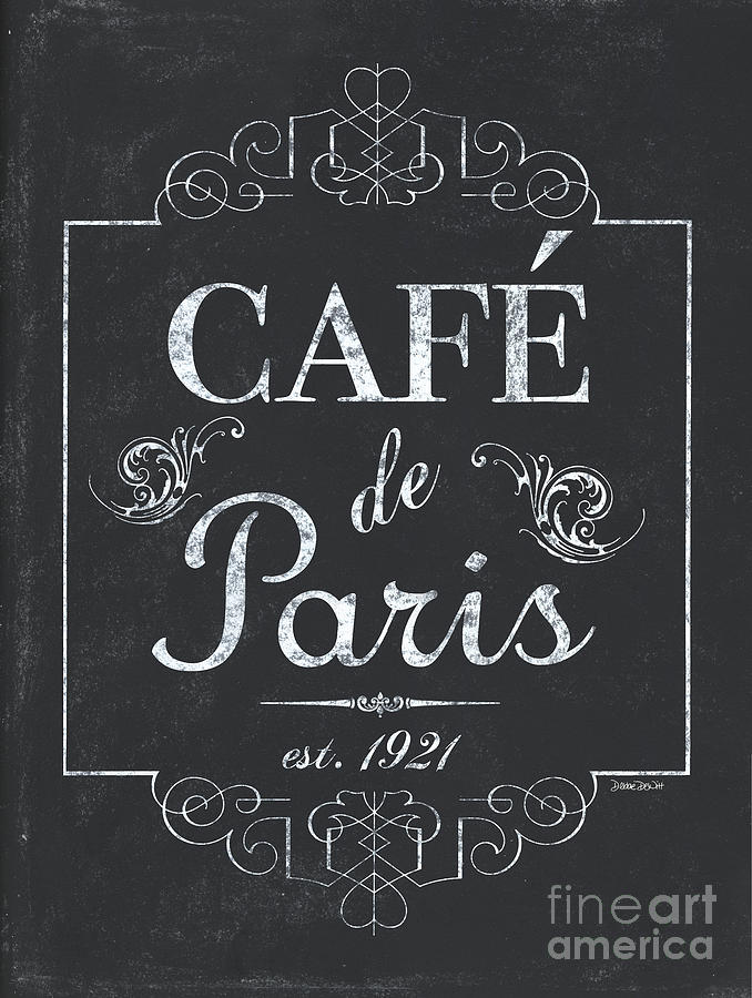Cafe Painting - Le Petite Bistro 3 by Debbie DeWitt