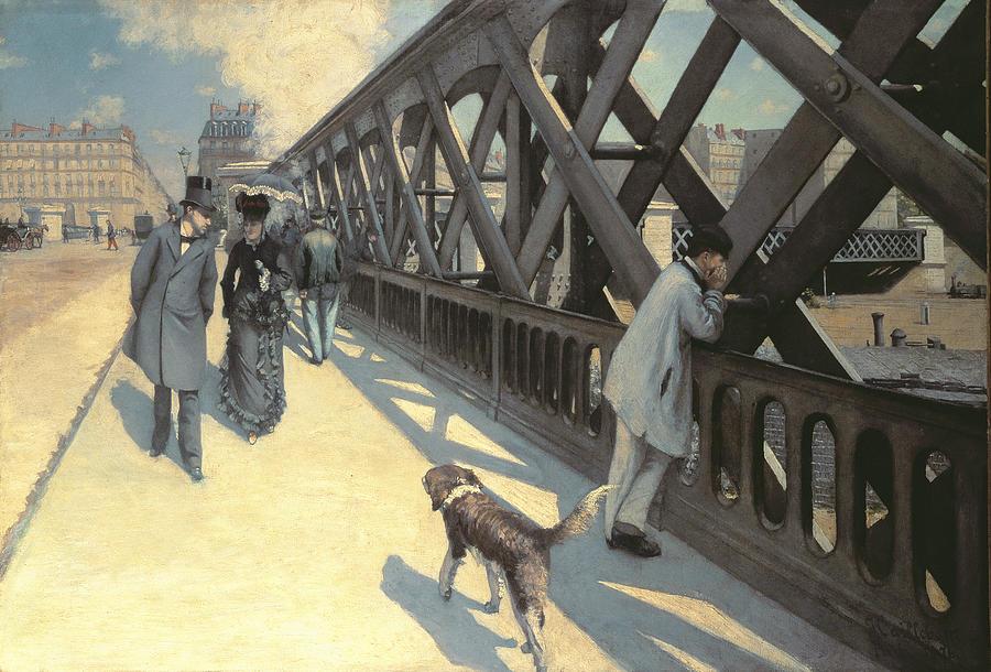 Urban Painting - Le Pont De Leurope by Gustave Caillebotte