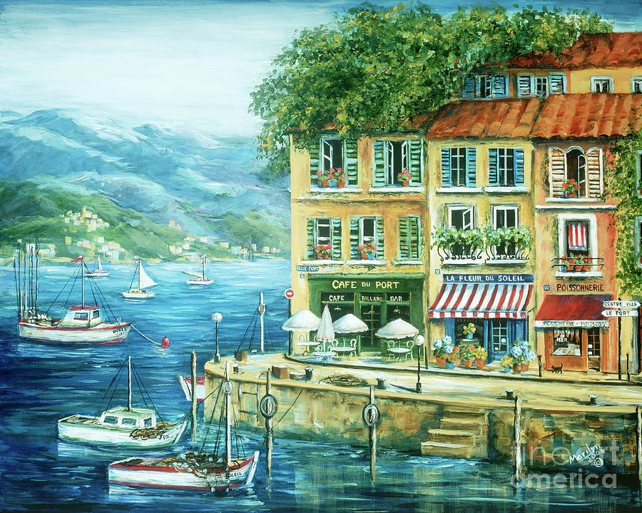 Europe Painting - Le Port by Marilyn Dunlap
