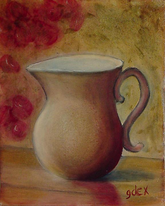 Le Pot Painting by Gerald Dextraze