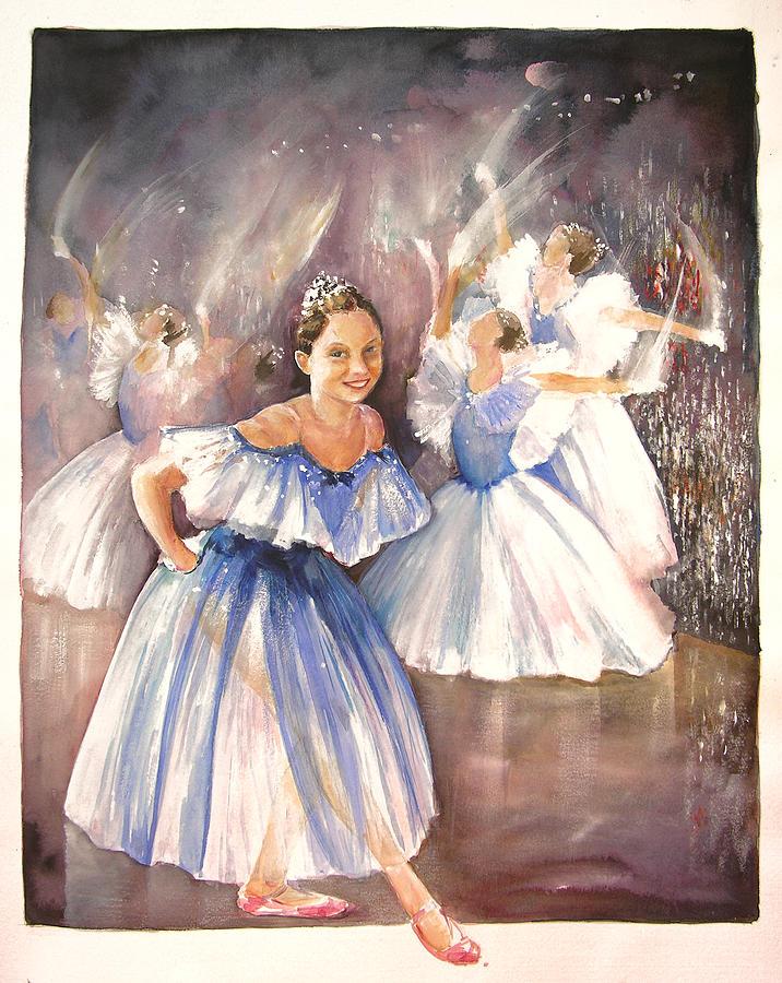 Music Painting - Le Premier Pas by Miki De Goodaboom