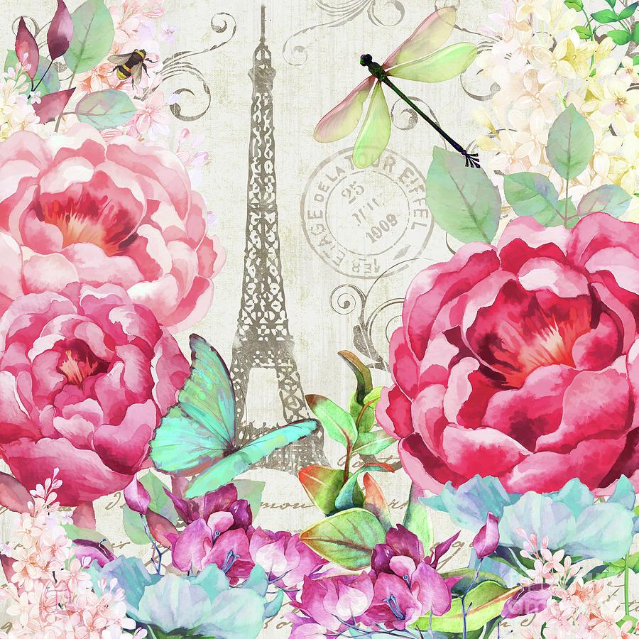 Le Printemps A Paris Springtime In Paris Floral Art Painting By