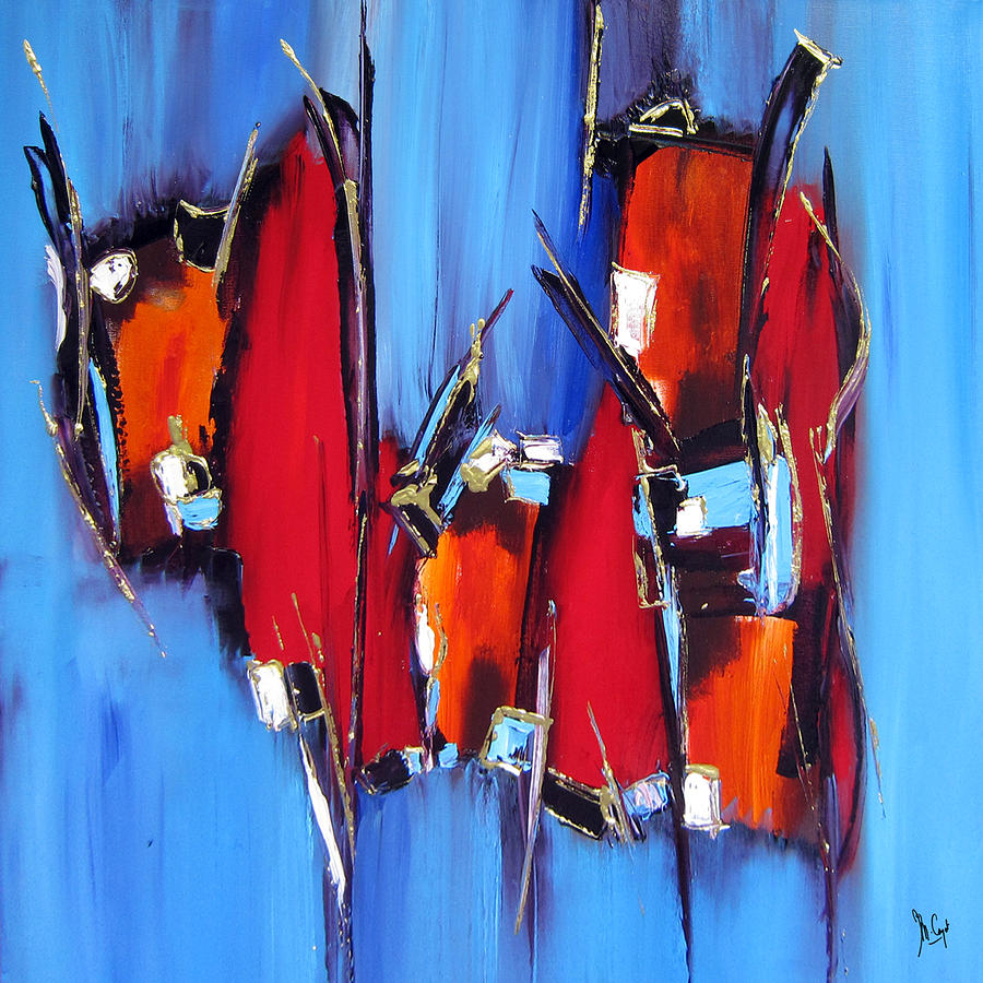 Roi Painting - Le Roi A Dit by Muriel Cayet