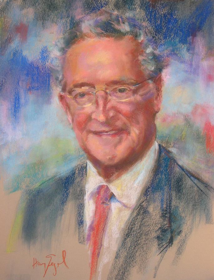 Portrait Painting - Le Senateur by Harvey Segal