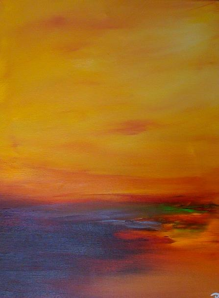 Le Soir Painting by Patrice Brunet