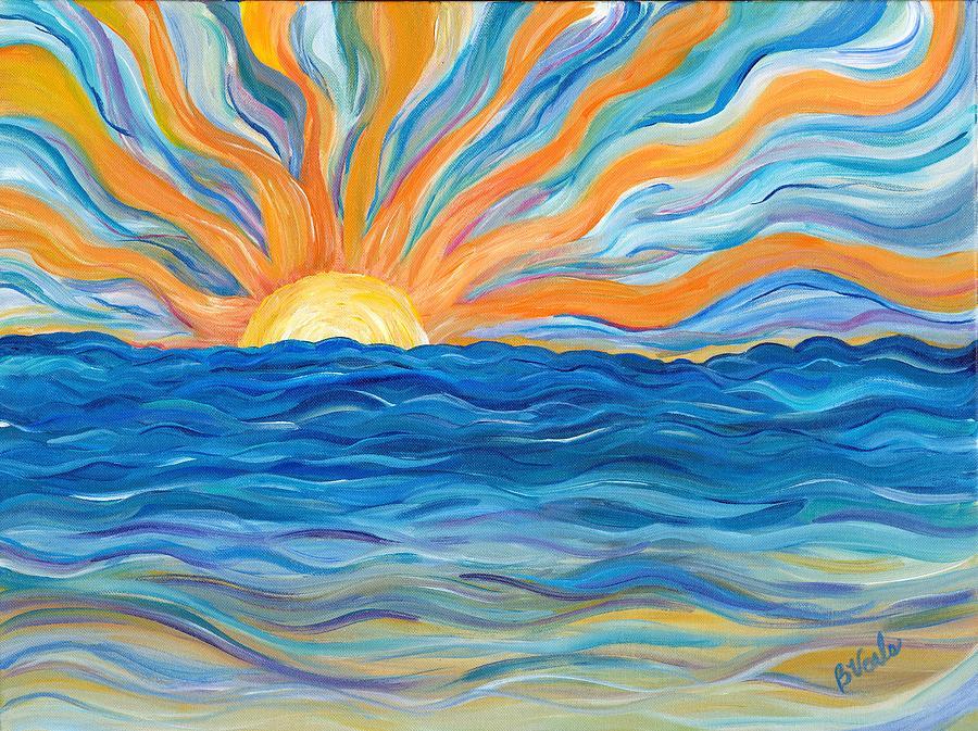 Sunrise Painting - Le Soleil by Bev Veals