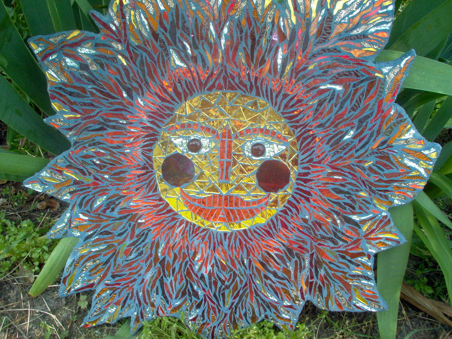 Mosaic Glass Art - Le Soleil by Kimberly Barrow