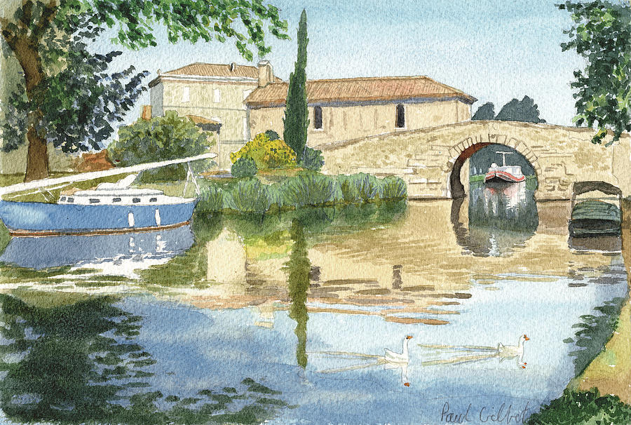 Boats Painting - Le Somail II by Paul Gilbert