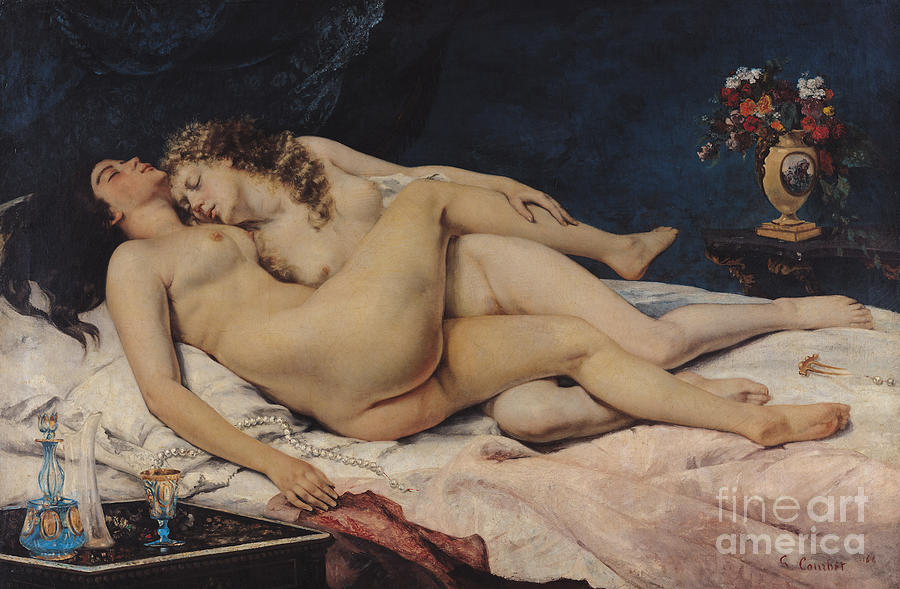 Love Painting - Le Sommeil by Gustave Courbet