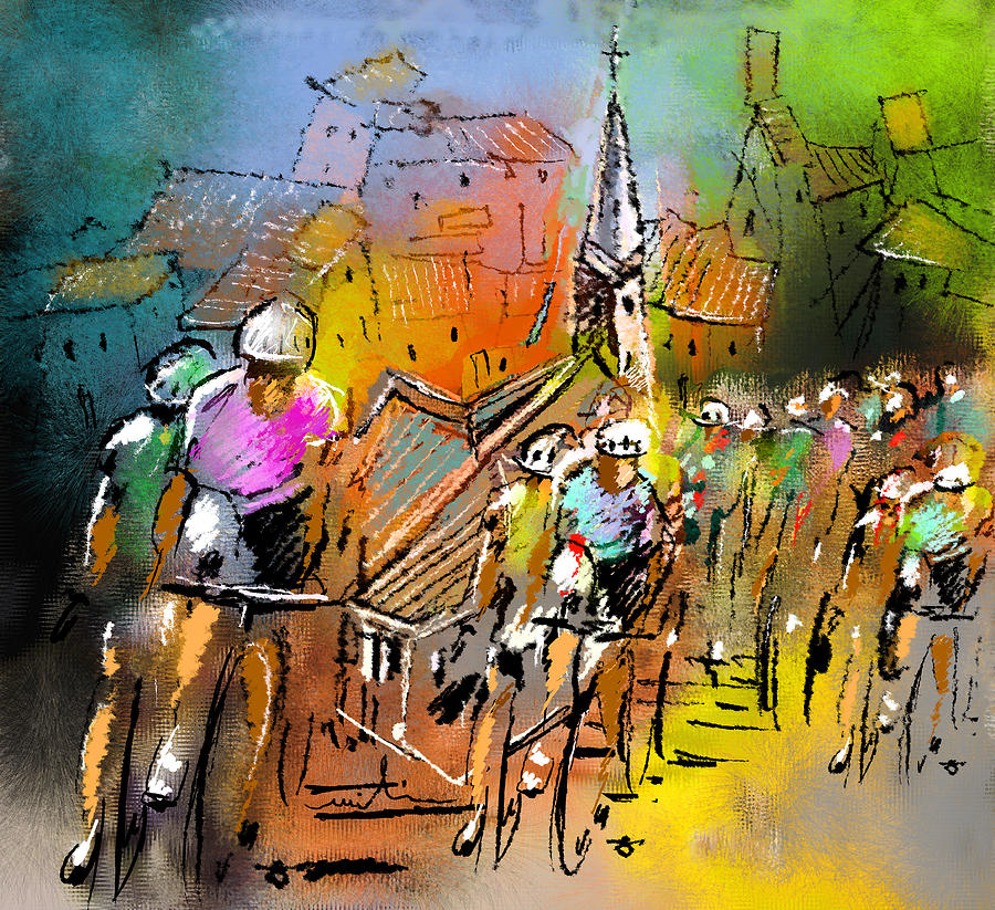 Sports Painting - Le Tour De France 04 by Miki De Goodaboom