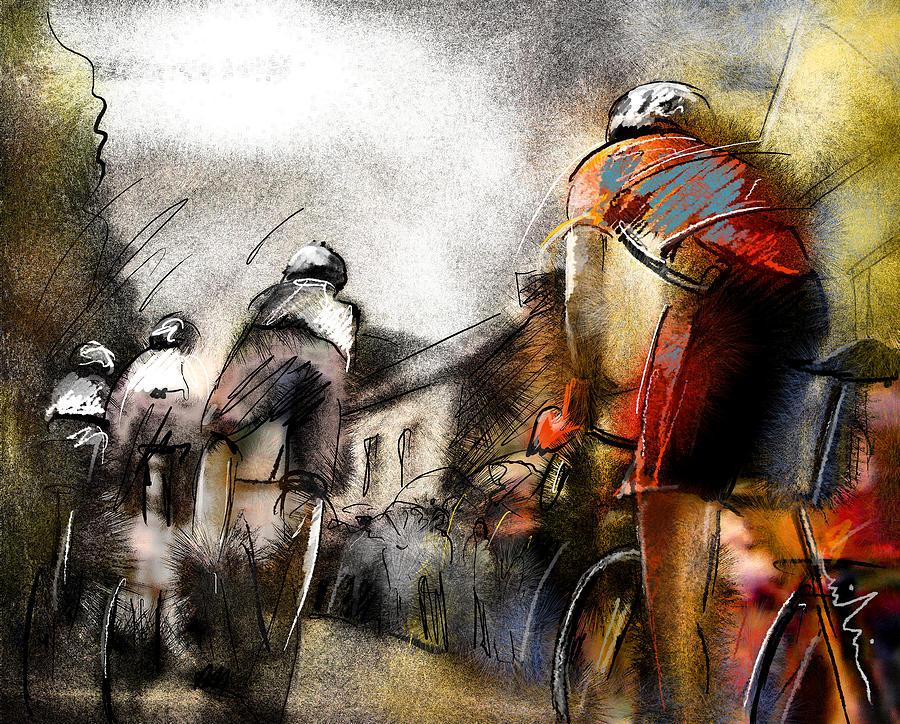 Sports Painting - Le Tour De France 06 by Miki De Goodaboom