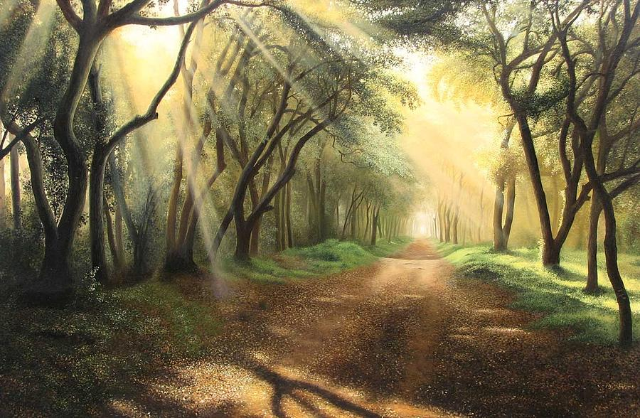 Landscape Painting - Lead Kindly Light by Shiv