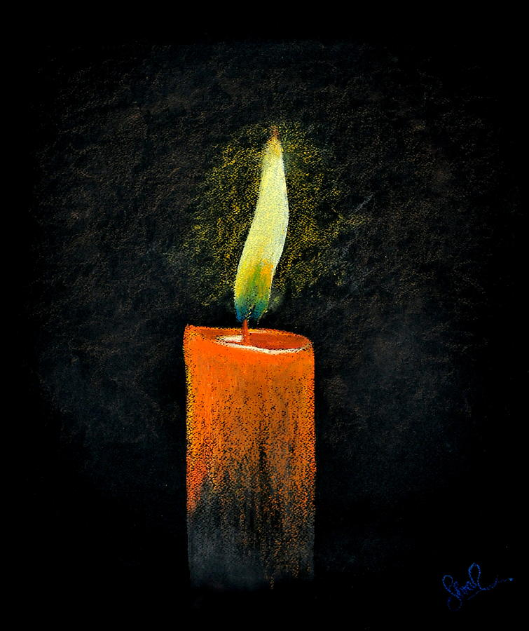Candle Painting   Lead Kindly Light By Shreekant Plappally
