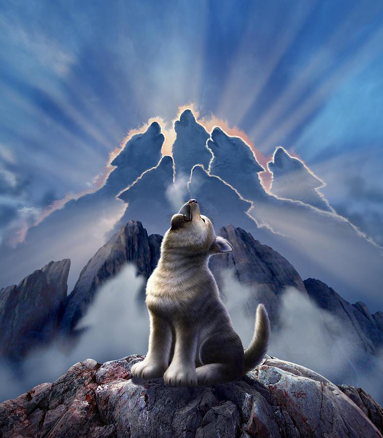 Wolf Digital Art - Leader Of The Pack by Jerry LoFaro