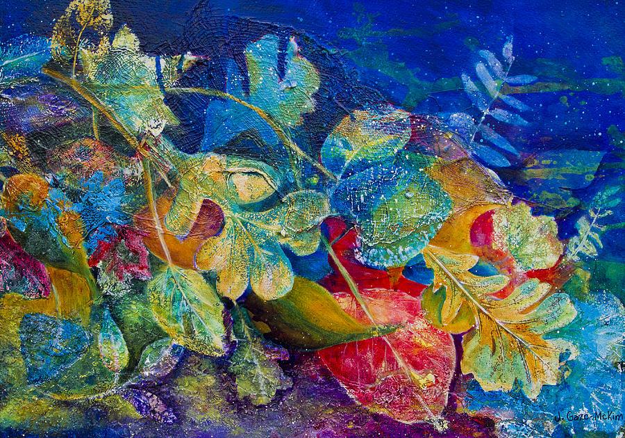 Leaf Painting - Leafin An Imprint by Jo-Anne Gazo-McKim