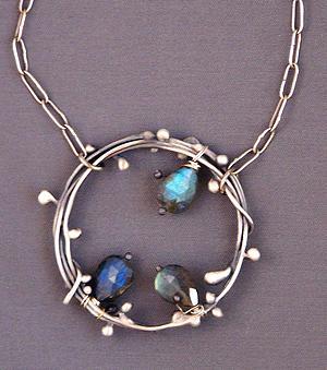 Sterling Jewelry - Leafy Ring Pendant by Mirinda Kossoff